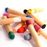 children crayon on a wahite paper